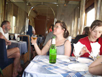 Trans Siberian Tour train 340 350 restaurant car